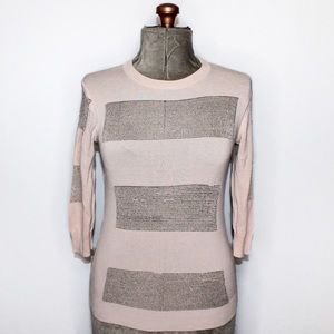 Ted Baker Cream & Gold Knit Sweater Size 2